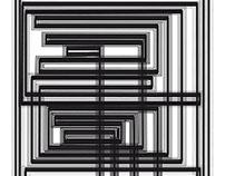 Líneas rectas blanco y negro