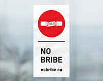 LOGO | NO BRIBE | Social action | Work for PZL