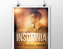 Insomnia Rock Music Festival Flyer PSD Template