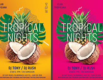 Tropical Summer Party Flyer Template