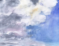 Sky Landscape Watercolour