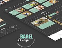 Website restaurant Bagel Lounge / UI/UX / webdesign