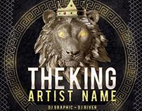 Lion Mixtape Album CD Cover PSD Template