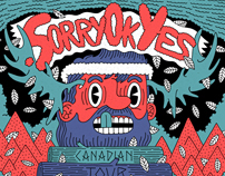 Sorry Ok Yes - Canadian tour poster art