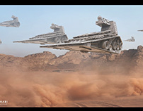 Desert Storm Inspired star wars Matte Painting