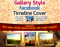 Gallery Style Facebook Timeline Cover -PSD-