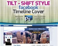 Tilt-Shift Style Facebook Timeline Cover -PSD-