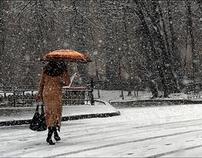 Последний снегопад марта.
