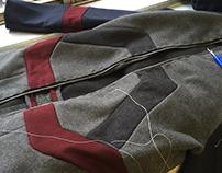 Draping II: Wool raglan sleeve coat
