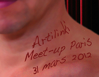 Artilinki flyer for Parisian Meet'up on March 31