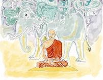 Dhammapada illustration redrew