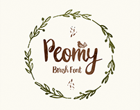 Peomy Extended Brush Font