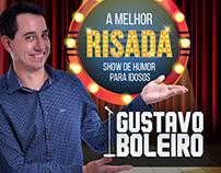 Comediante Gustavo Boleiros