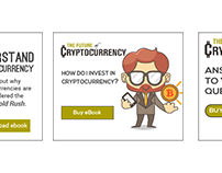 Ad designs for a cryptocurrency ebook