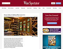 Wine Spectator Blog Post Redesign