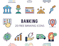 Banking Vector Free Icon Set