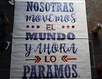 Stencil para afiche e intervención