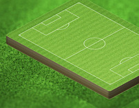 Isometric International Football Field Illustration