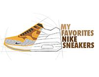 Simplified Nike sneakers