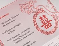 Chinese Themed Wedding Invitation