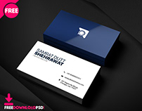 Free Creative Bussiness Card PSD Template