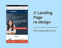 Landing Page re-design for Astrospeak