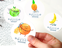 Illustrations for Fruitsy delivery