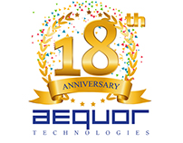 Aequor Group 18th Anniversary Logo