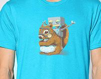 """""""I'm on a fu***ng Squirrel"""" Tshirt Design"""