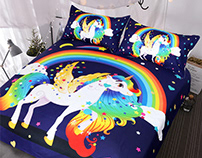 My Unicorn Art on Bedding Set - Video inside