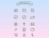 Free UI basic icons set