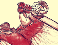 Illustration of AB DeVilliers