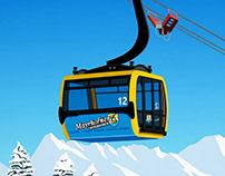 Mayrhofen Ski Resort Poster
