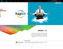 Corporative Landing page for IT company Hapbit