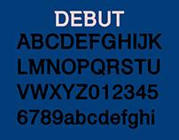 DEBUT: WIP Free Demo Font