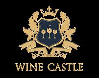 Wine Castle menu. Wine and snack.