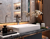 Master bathroom design (private villa)