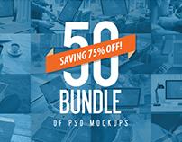 50 PSD Mockups Mega Bundle