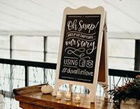 DUVALL WEDDING | CHALKBOARD SIGNAGE