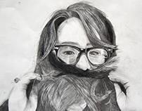 5 hour charcoal portrait