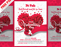 Valentines Day Clean Flyer PSD Freebie