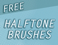 Free Halftone Brushes for Photoshop