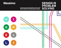 Massimo Vignelli Brochure Design (2016)