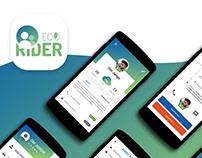 EcoRider Car Pool - App UI/UX Design