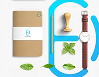 Creative modern E+D App icon logo design
