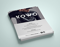 KOWO WARSAW | Fashion Brand Flyer