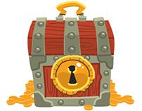 Game art: Treasure chest icon