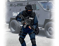 S.W.A.T. ( box art for ICM )