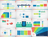 100+ market infographics charts PowerPoint template