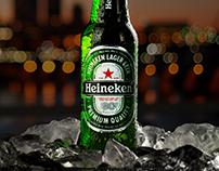 Heineken Bottle product photography
